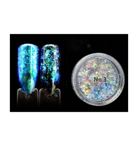 Flakes- Cameleon -Transparent- Blue Green