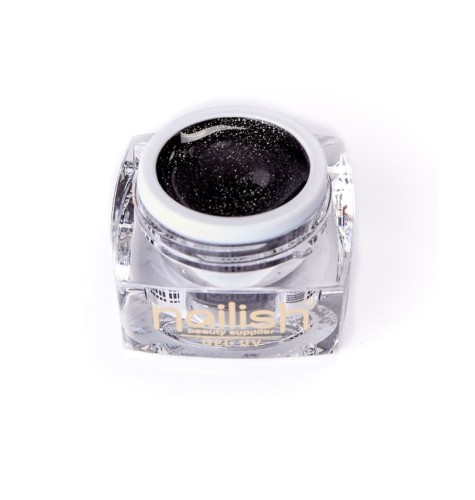 UV- LED -Gel- Glitter- Nailish- Black -Diamond -5ml