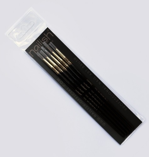Kit 5 Pinceaux Nail Art