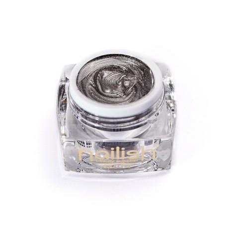 Gel -UV-LED -Glitter- Nailish- Chrome- Silver- 5ml