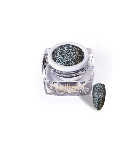Gel -Glitter -UV-LED- Luxury Dark- Silver -5ml
